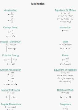 Physics Equations pc screenshot 1