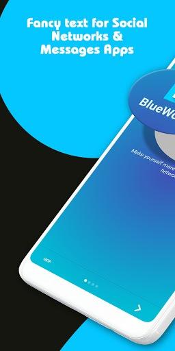 Blue Words - Stylish Fonts, Fancy Text pc screenshot 1