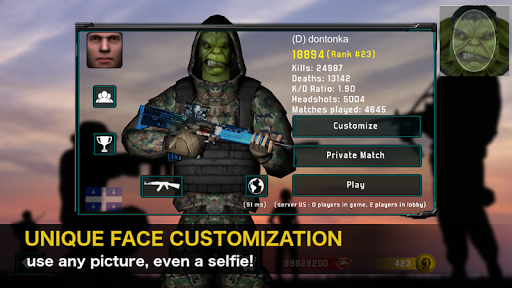 Natural Born Soldier: Epic Multiplayer FPS PC screenshot 2