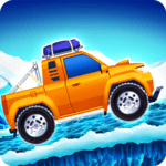 Arctic roads: car racing game icon