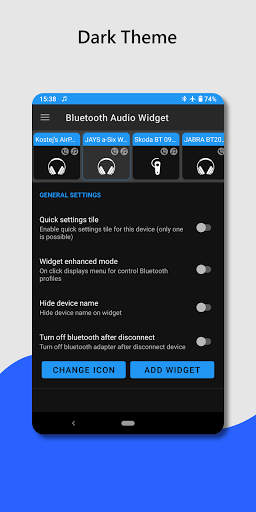 Bluetooth audio device widget: connect, play music PC screenshot 2