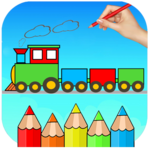 Train Coloring Book & Drawing Game for pc logo