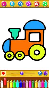 Train Coloring Book & Drawing Game pc screenshot 1