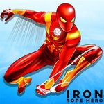 Iron Rope Hero War - Superhero Games for pc logo