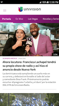 Univision pc screenshot 1