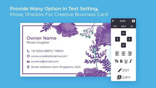 Business Card Maker Free Visiting Card Maker photo PC screenshot 2