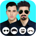 Face changer real photo editor Beard and mustache icon