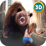 Hungry Bear City Attack Sim 3D icon