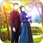 Muslim Couple Photo Suit icon