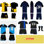 Futsal jersey design icon