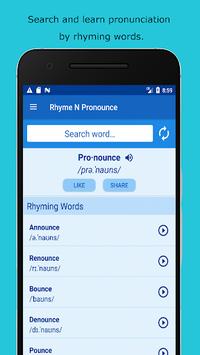 Rhyming Dictionary: American Pronunciation pc screenshot 1