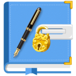 Secret Diary with Lock and Backup icon