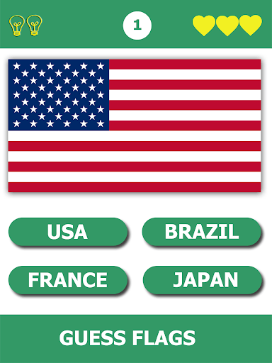 Flags Quiz Gallery : Quiz flags name and color PC screenshot 1