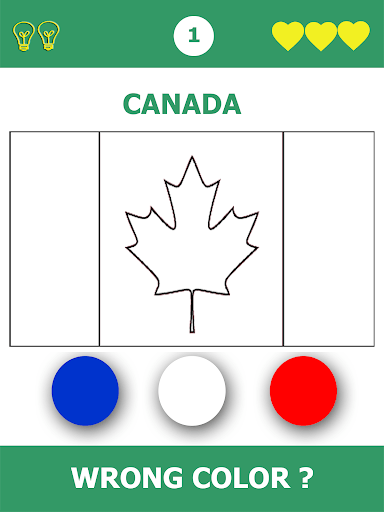 Flags Quiz Gallery : Quiz flags name and color PC screenshot 3