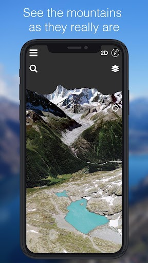 Relief Maps - 3D GPS Hiking | Trail Running | Ski PC screenshot 2