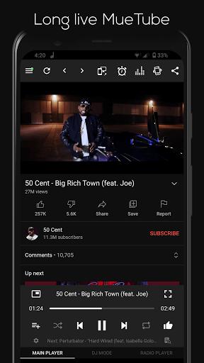 MueTube Lite - Free music app pc screenshot 1