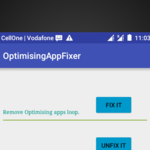 Optimizing Apps fix [ROOT] icon