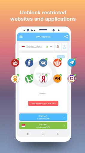VPN Indonesia - get free Indonesian IP pc screenshot 1