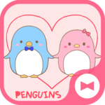 Cute Wallpaper Couple Wallpaper: Penguins Theme icon