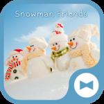 Cute Wallpaper Snowman Friends Theme icon