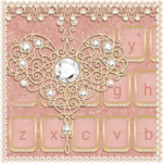 Rose Gold Keyboard Diamond Heart Theme icon