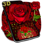 3D Red Rose Keyboard icon