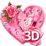 Animated Cute Pink Hearts Keyboard icon