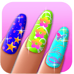Nail Art Girl Manicure icon