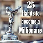 Millionaire mindset developing top 25 habits icon