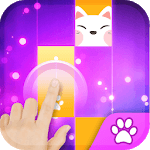 Magic Cat Piano Tiles - Pink Kpop Piano Girly icon