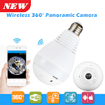 Panoramic CCTV Bulb Camera for pc logo