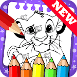 Draw colouring pages for The King Lion by Fans for pc logo