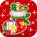 Christmas Color by Number – Merry Xmas Pixel Art for pc logo