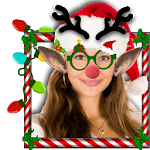 Merry Christmas Face Camera icon