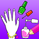 Nail Drawing Book Fashion Coloring Pages icon
