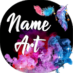 Name Art Maker 🖍️ Write Text on Background icon
