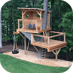 Simple Tree House Design icon