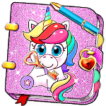 Unicorn Secret Diary with Lock 🦄 Personal Journal icon