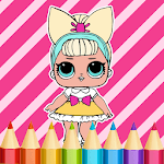 Dolls Coloring Book for pc logo