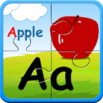 Alphabet puzzles & flash cards for pc logo