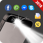 Flash on call and sms: Flashlight led torch light icon
