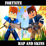 Map and skins Fortnite for MCPE icon
