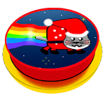 Button for nyan cat meme icon