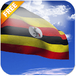 3D Uganda Flag Live Wallpaper for pc logo