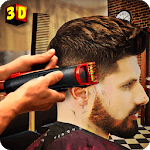 Barber Shop Hair Salon Cut Hair Cutting Games 3D for pc logo