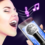 Karaoke voice sing & record icon