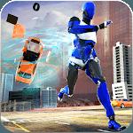 Flash Robot Speedster: Cop Robot hero- Flash games icon