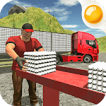 Supermarket Egg Transport Truck Driver Sim 2019 icon