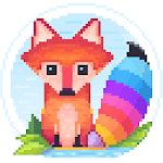 Pixel Fox - Color by Number Family Coloring Book for pc logo