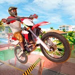 Crazy City Bike Racing Stunt Master for pc logo